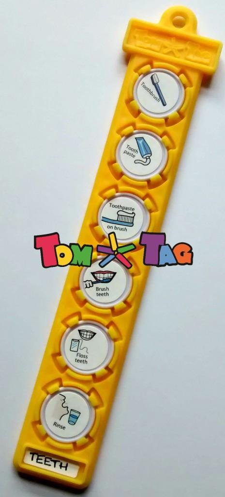 brush teeth tag