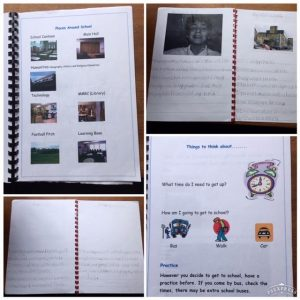 Extracts from Tom's transition to secondary school booklet