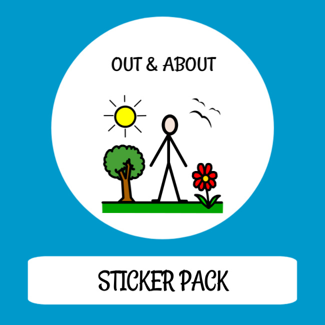 cover image sticker pack out & about