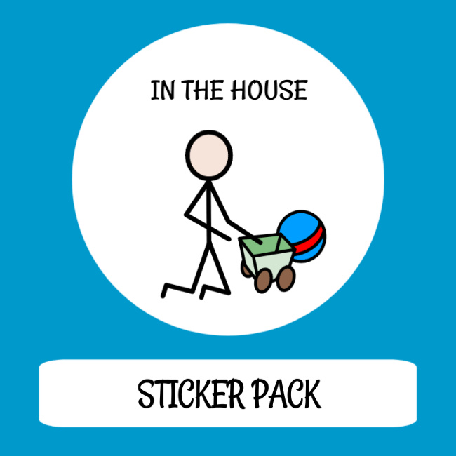 cover image sticker pack in the house