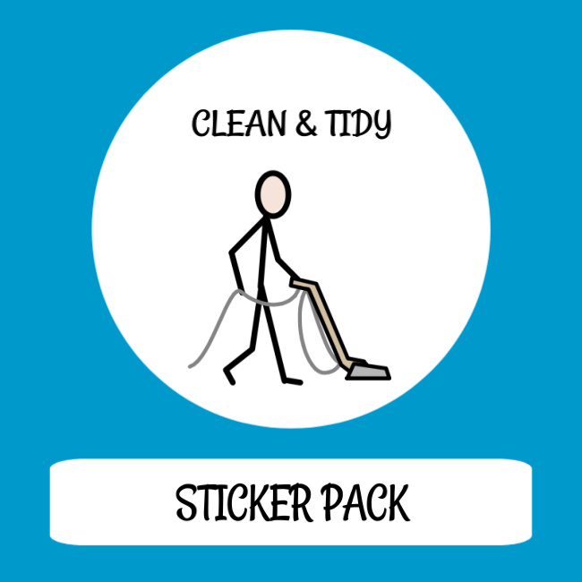 cover image sticker pack clean & tidy