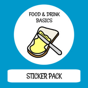 cover image sticker pack food drink basics