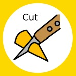 simple meals, choosing the right task, widgit symbol for cut with knife