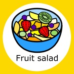 simple meals, foodie fun, widgit symbol for fruit salad