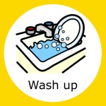simple meals, praise, widgit symbol for washing up