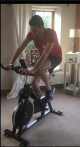 using exercise bike