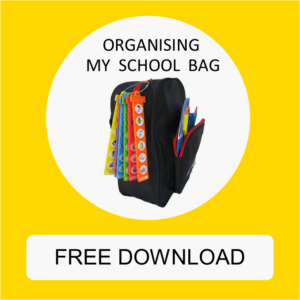 School bag with TomTag checklist attached