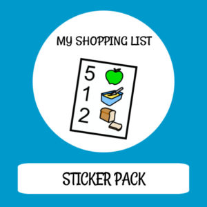 cover image sticker pack my shopping list
